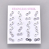 304 Stainless Steel Stud EarringsX-EJEW-L227-043P-2