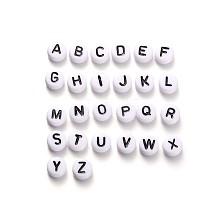 Alphabet Acrylic Beads MACR-X0007
