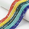 Electroplate Opaque Solid Color Glass Beads StrandsEGLA-A034-P6mm-L-1