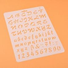 Plastic Drawing Painting Stencils Templates DIY-F018-B02
