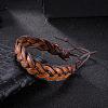 Adjustable Casual Unisex Braided Leather BraceletsBJEW-BB15584-2