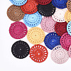 Polycotton(Polyester Cotton) Woven Pendant DecorationsFIND-Q078-05-1