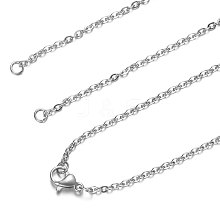 201 Stainless Steel Cable Chain Necklace Making STAS-T040-PJ208-1-54