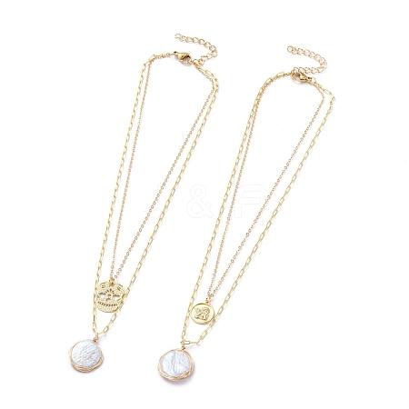 Double Layered NecklacesNJEW-JN02778-1