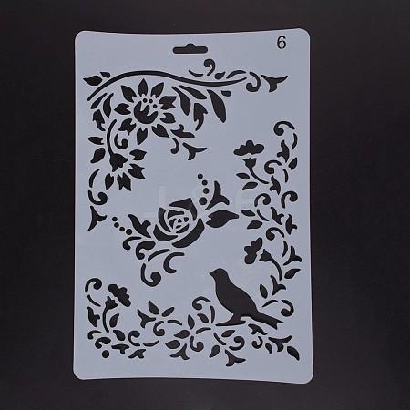 Plastic Drawing Painting Stencils TemplatesDIY-F018-B06-1