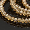 Pearl Luster Plated Faceted Rondelle Glass Beads StrandsGLAA-A024D-PL01-1