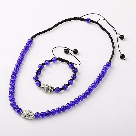 Fashion Jewelry SetsSJEW-JS00090-03-1