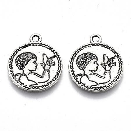 Tibetan Style Alloy Pendants TIBE-N006-30AS-LF-1