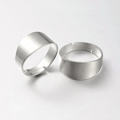 DIY Jewelry Adjustable Brass Finger Rings Components KK-M123-S-RS-1
