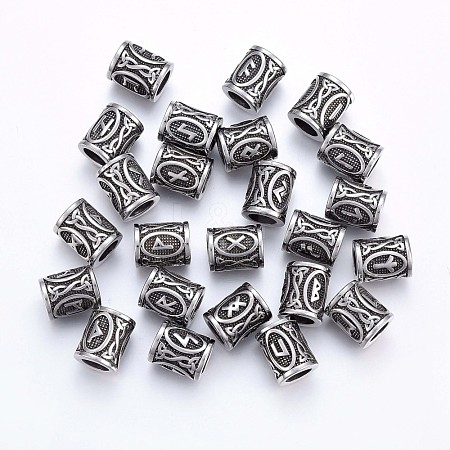 304 Stainless Steel Beads STAS-H460-01AS-1