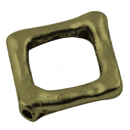 Tibetan Silver Bead FrameX-MLFH10283Y-NF-1