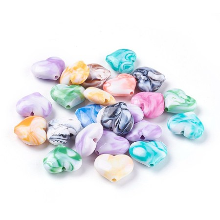 Acrylic Imitation Gemstone BeadsMACR-E205-09A-1