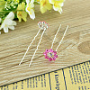 Lady's Hair Accessories Silver Color Iron Rhinestone Flower Hair ForksPHAR-S194-07-1