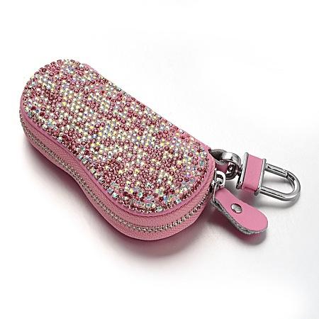 Shining Rectangle PU Leather Key CasesAJEW-M016-02-1