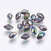 Imitation Austrian Crystal Beads SWAR-F054-9x6mm-31-1