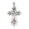Alloy Latin Cross Clenched Large Gothic Big PendantsPALLOY-I111-23AS-03-2
