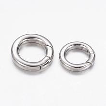 304 Stainless Steel Spring Gate Rings STAS-G134-13P-15mm
