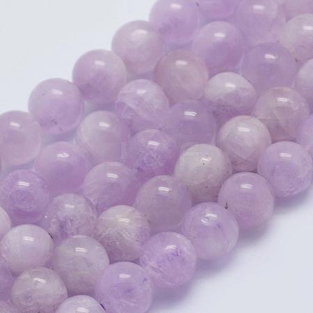Natural Kunzite Beads StrandsG-L478-14-6mm-1