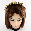 Girls' Iron Flower Plastic Hair BandsOHAR-R197-11-3