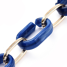 Handmade Acrylic & Aluminium Cable Chains AJEW-JB00560-01