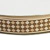 DarkGoldenrod Color Grosgrain Gingham Ribbon for Hair BowsX-SRIB-E002-26mm-6-2