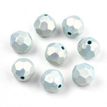 Spray Painted Acrylic Beads X-MACR-T037-05C