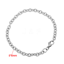 316 Stainless Steel Cable Chain Bracelets BJEW-M188-06