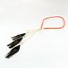 Woman's Dyed Feather Braided Suede Cord HeadbandsOHAR-R184-05-1