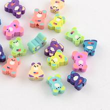 Bear Handmade Polymer Clay Beads X-CLAY-Q222-13
