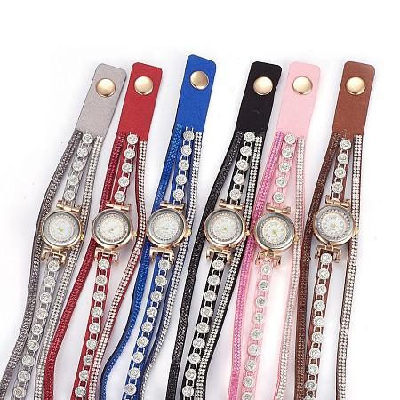 Alloy Watch Head Bracelet WatchesWACH-P017-N-1