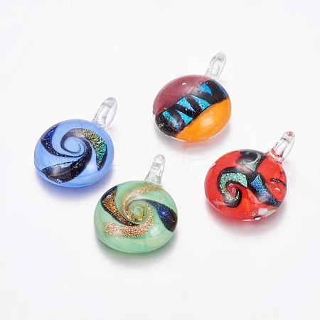 Handmade Dichroic Glass PendantsDICH-X039-M-1