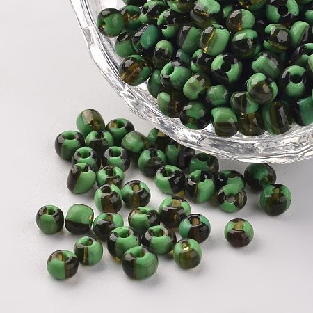 6/0 Opaque Colours Seep Glass Beads SEED-M006-A11-1