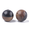 Resin & Wood Beads X-RESI-S358-68B-2