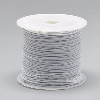 Round Elastic Cord, White, 0.8~1mm; about 20m/roll