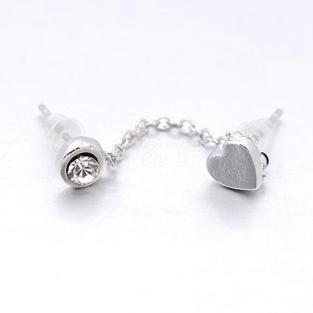 Fashion Alloy Two Pin Dangle Stud EarringsX-EJEW-Q574-50-1
