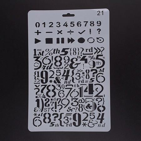 Plastic Drawing Painting Stencils TemplatesDIY-F018-B21-1