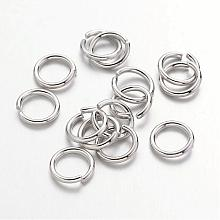 Platinum Plated Brass Round Open Jump Rings for Jewelry DIY X-JRC7mm-NF