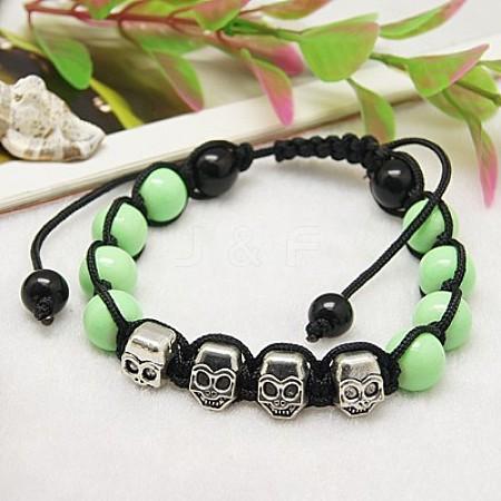 Fashion Bracelets for HalloweenBJEW-JB00488-05-1