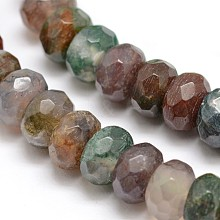 Natural Indian Agate Beads Strands X-G-K090-11