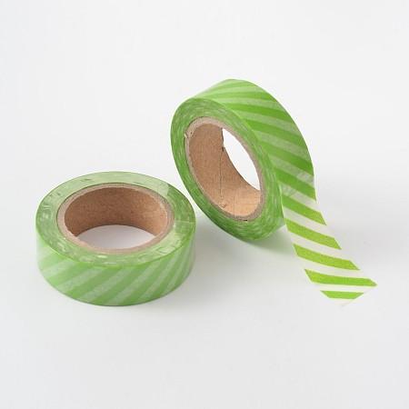 Stripe Pattern DIY Scrapbook Decorative Adhesive TapesDIY-F002-10-1