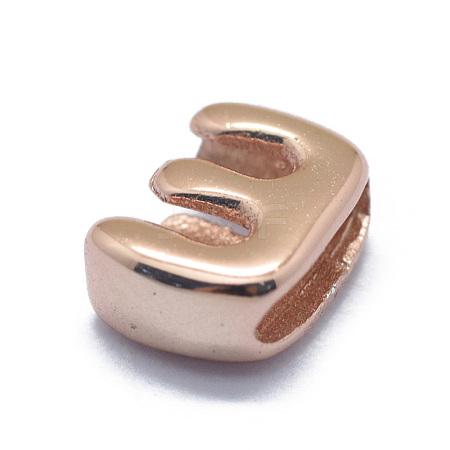 925 Sterling Silver European BeadsSTER-E064-01E-RG-1