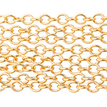 Brass Cable Chains CHC-PH0001-01G-NF