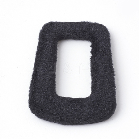 Handmade Velvet Cloth Fabric Covered Linking RingsWOVE-Q071-33A-1