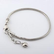 Brass European Style Bracelets For Jewelry Making KK-R031-06
