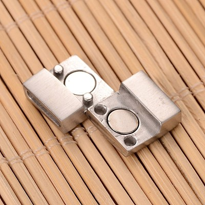 304 Stainless Steel Rectangle Magnetic ClaspsSTAS-I045-05-1