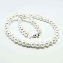 Fashion Glass Pearl Beaded Necklaces X-NJEW-D061-8mm-3