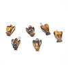 Natural Tiger Eye Gemstone PendantsX-G-T032-07-1
