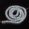 Electroplate Glass Beads StrandsEGLA-A034-T8mm-L19-2