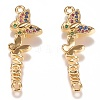 Brass Micro Pave Colorful Cubic Zirconia LinkZIRC-N040-15-G-1