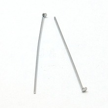 Jewelry Tools and Equipment Decorative Stainless Steel Flat Head Pins X-STAS-E023-0.6x30mm